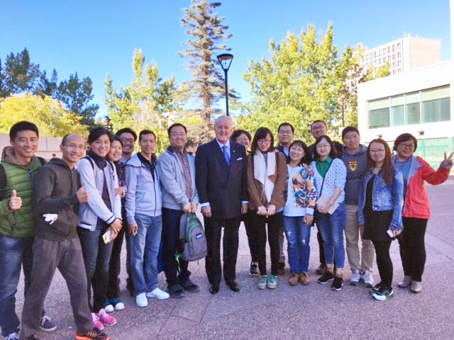 It's not every day you meet a prime minister: Some of the students ran into former Prime Minister Brian Mulroney when he was on campus to deliver a lecture for the Faculty of Law on Tuesday, September 13.