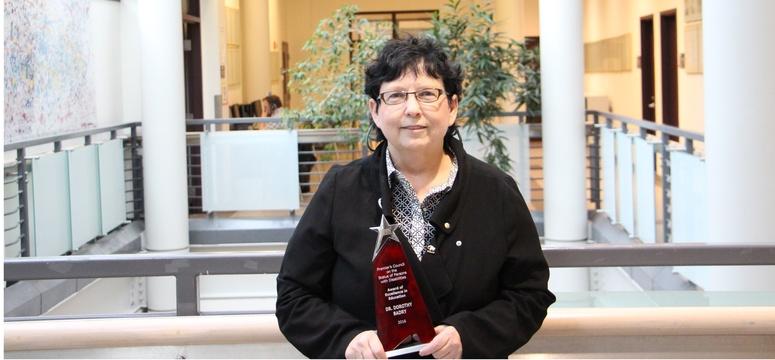 Social Work professor Dorothy Badry holds Premier's Award for Education
